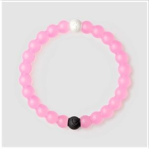 Light Pink Breast Cancer Lokai Rubber Bracelet Xl